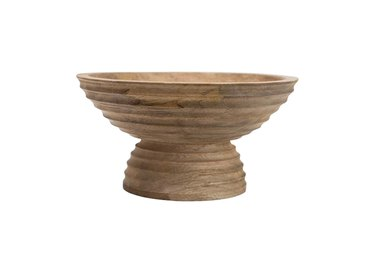 Effortless Composition Mango Wood Carved Bowl