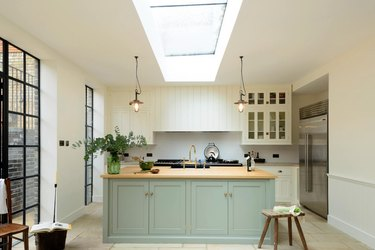 small kitchen decorating ideas with skylight