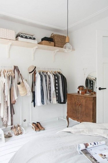 empty wall wardrobe station