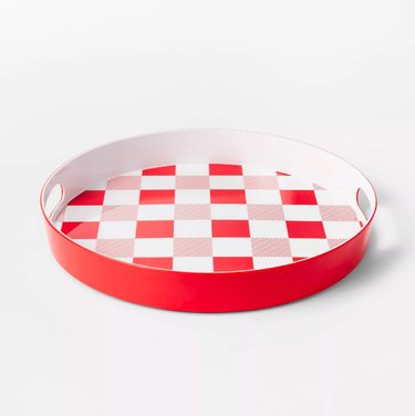 sun squad gingham serving tray