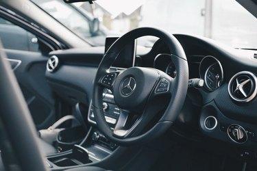 Interior of car.