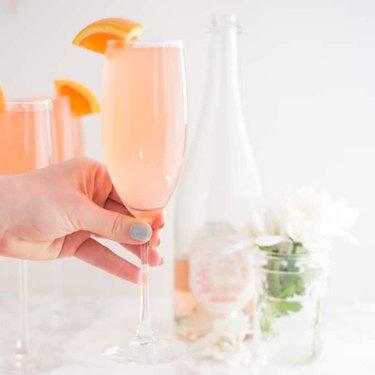 Rosé Grapefruit Mimosa by Mindful Avocado