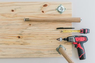 Measure and attach your coffee table legs.