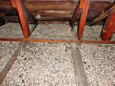 Vermiculite in attic.