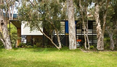 Eames house seen from outside