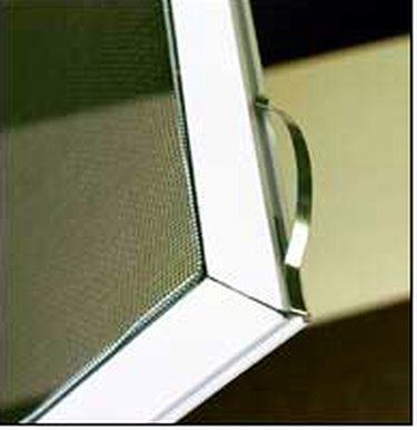 Closeup of window screen.