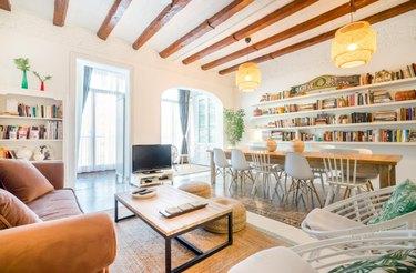 open floor plan hangout space barcelona