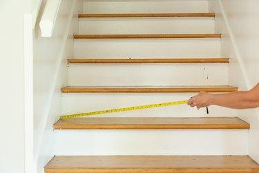 step 1 diy stair risers
