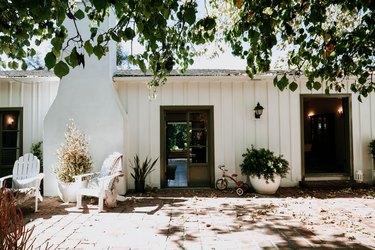 Exterior of white houe