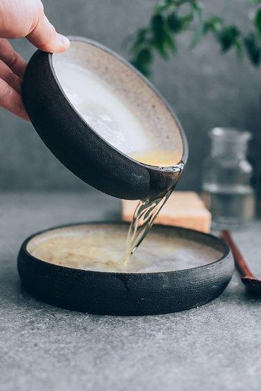 Mixing Homemade Dish Soap Recipe