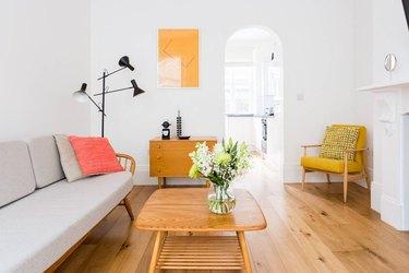 London apartment bright colors