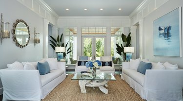 coastal furniture in a bright living room