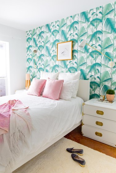 sugar and cloth tropical bedroom