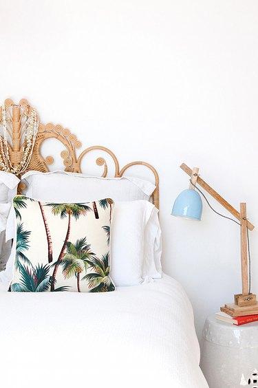 tropical bedroom details