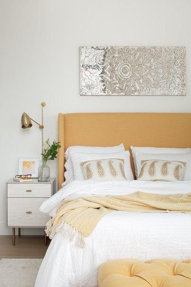 Bedroom with Gen-Z yellow decor