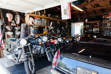 The Moto Chapel where their vintage motorcycles and cars live.