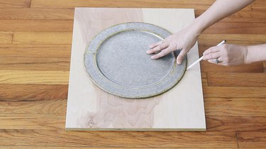Tracing around a plate on the front piece