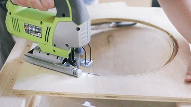 Cutting out round hole on front piece