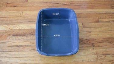 Measuring litter pan