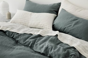 detail of bed linens by Cultiver