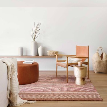 warm-toned living room