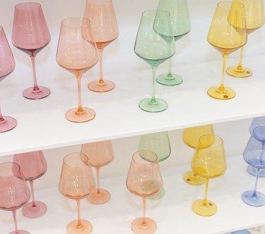 Estella Colored Glass wine glasses