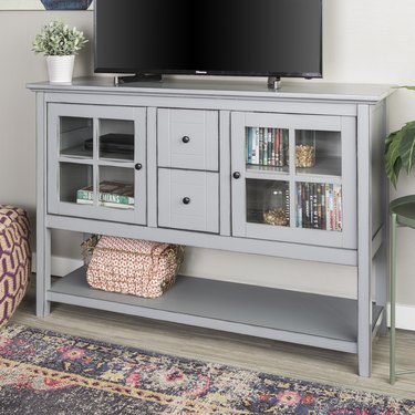 Manor Park Transitional Glass Door Wood Sideboard TV Stand, $261.69