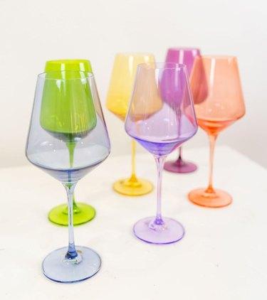 Estelle Colored Wine Stemware
