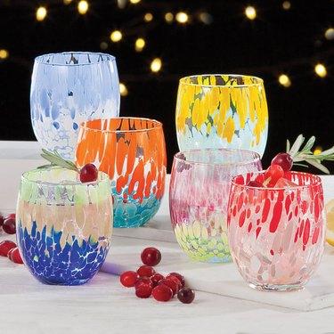 UnoAllaVolta Murano-Style Drinking Glasses