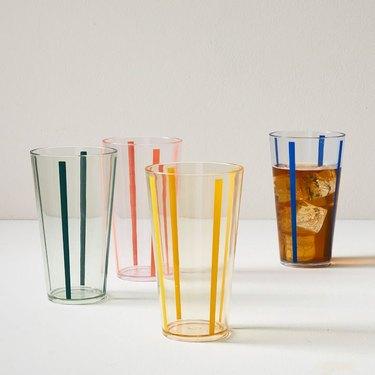 West Elm Acrylic Modern Vintage Glasses, Set of 4