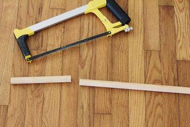 Wood cut by hacksaw