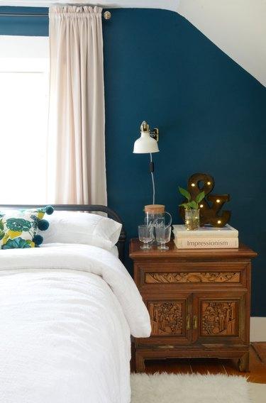 blue-green bedroom