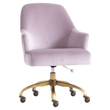 Dusty Lavender Pleated Desk Chair