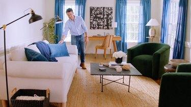 Nate Berkus in living room space
