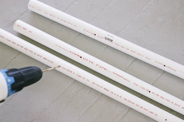 Drilling holes into PVC pipes with 5/32 inch drill bit