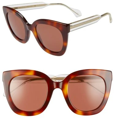 Gucci 51mm Cat Eye Sunglasses, $375