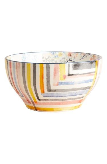 anthropologie rosie earthenware serving bowl
