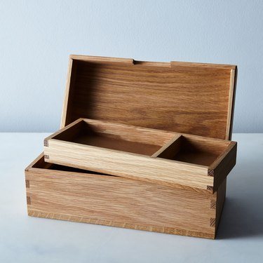 Wood & Leather Jewelry Box