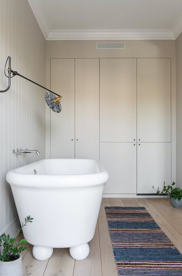 cream color bathroom cabinets