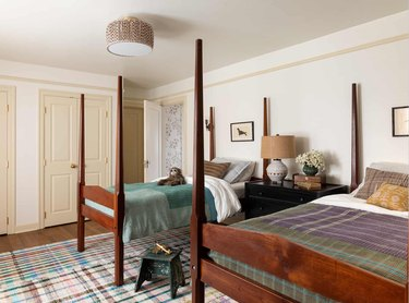 cream color closets in bedroom