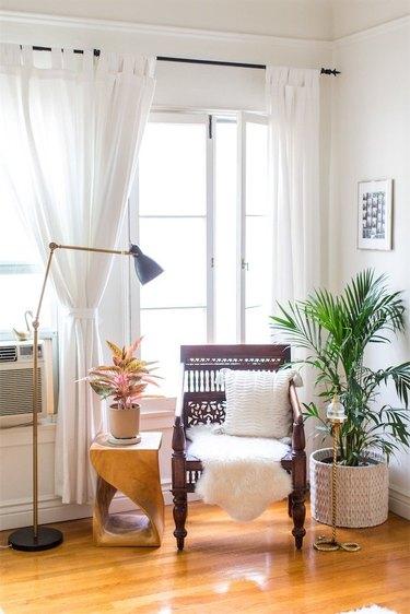 living room in rental apartment