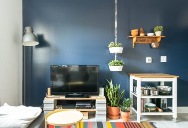 blue room ideas in living room with wall paint