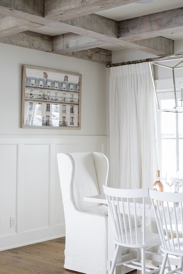rustic white dining room