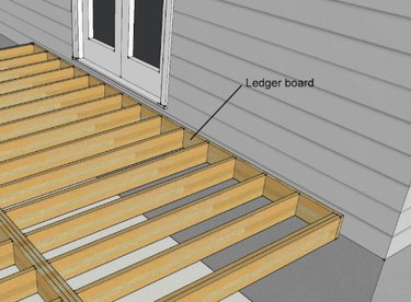 Connecting decking to a house.