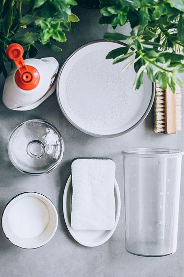 Dishwasher cleaning materials