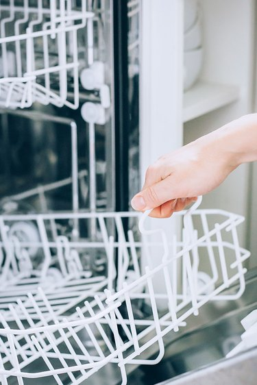 Remove dishwasher rack to clean