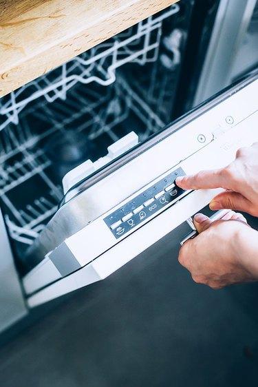 Sanitize dishwasher on the hottest setting