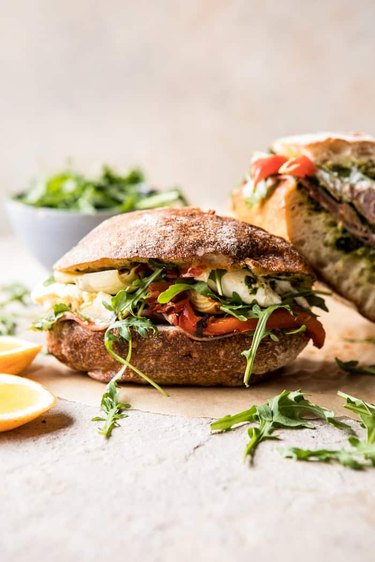 Antipasto Mozzarella Sandwich with Lemon Pesto by Half Baked Harvest