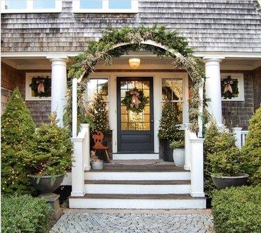 Traditional Christmas yard decorations