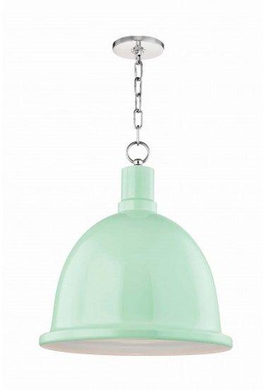 mint green industrial pendant light